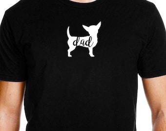 Chihuahua Dad Shirt, Chihuahua Shirt for Men, Chihuahua Dad, Chihuahua Tshirt, Chihuahua T shirt, Cute Chihuahua Gift Idea
