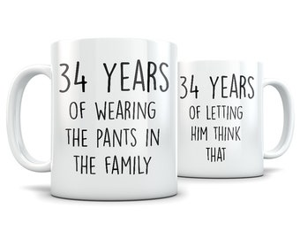 34th anniversary gifts for men and women, 34th anniversary gift for couple, 34 anniversary, 34 year anniversary, 34th wedding anniversary