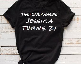 number 21 birthday shirt