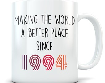 Funny 25th Birthday Gift Mug 25 Year Old Gifts Happy 1994