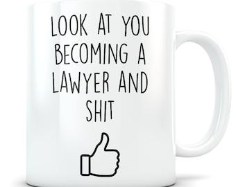 Law School graduation gift. Lawyer graduation, Lawyer mug, Lawyer gift, Law student, Law graduation, Law graduates, LSAT gift, Future Lawyer