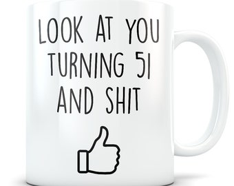 51 Jarige Verjaardag Etsy
