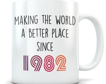 Funny 37th Birthday Gift Mug 37 Year Old Gifts Happy Bday 1982