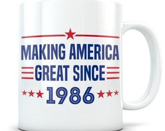 Funny 33rd Birthday Gift Mug 33 Year Old Gifts Happy Bday 1986