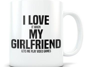 Video Game gift, video game mug, gamer gift, gamer mug, gamer boyfriend, video game gift for men, gaming gift, gaming mug, I love my gf