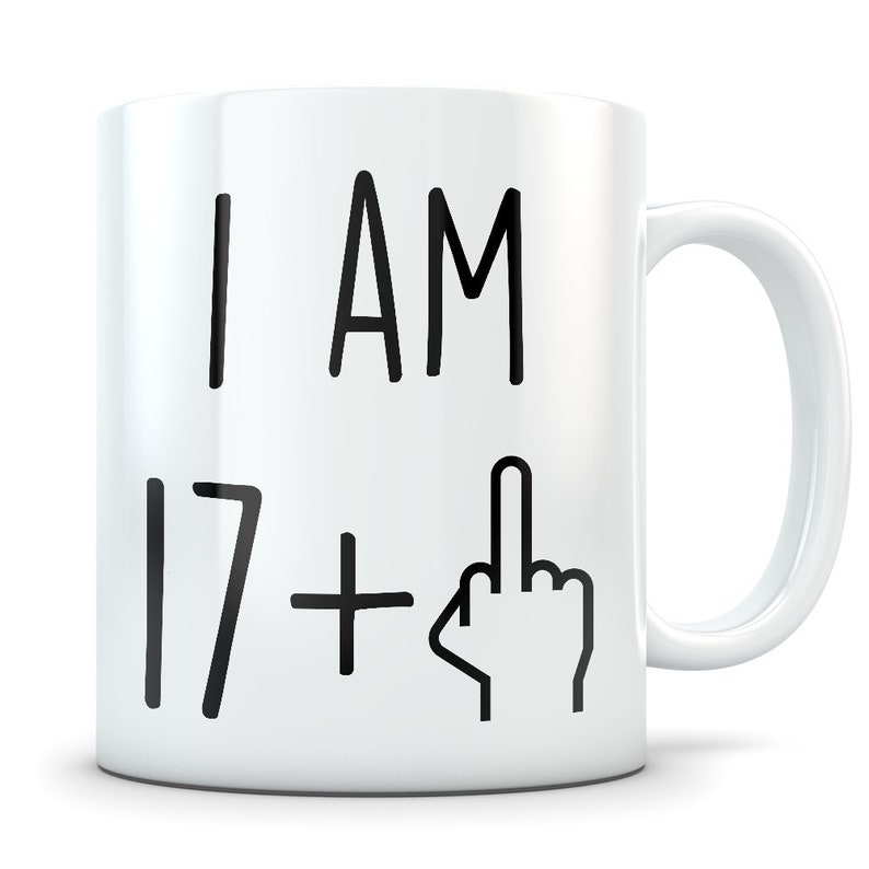 Funny 18th Birthday Gift Mug 18 Year Old