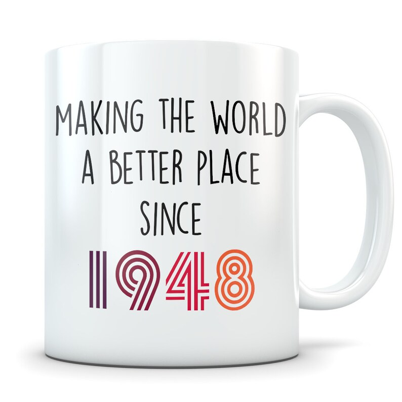 Funny 71st Birthday Gift Mug 71 Year Old Gifts Happy Bday 1948