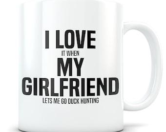 Duck hunting Mug, duck hunting gift, duck hunting gift for boyfriend, duck hunt gift, duck hunter, mallard hunting gift, I love my gf