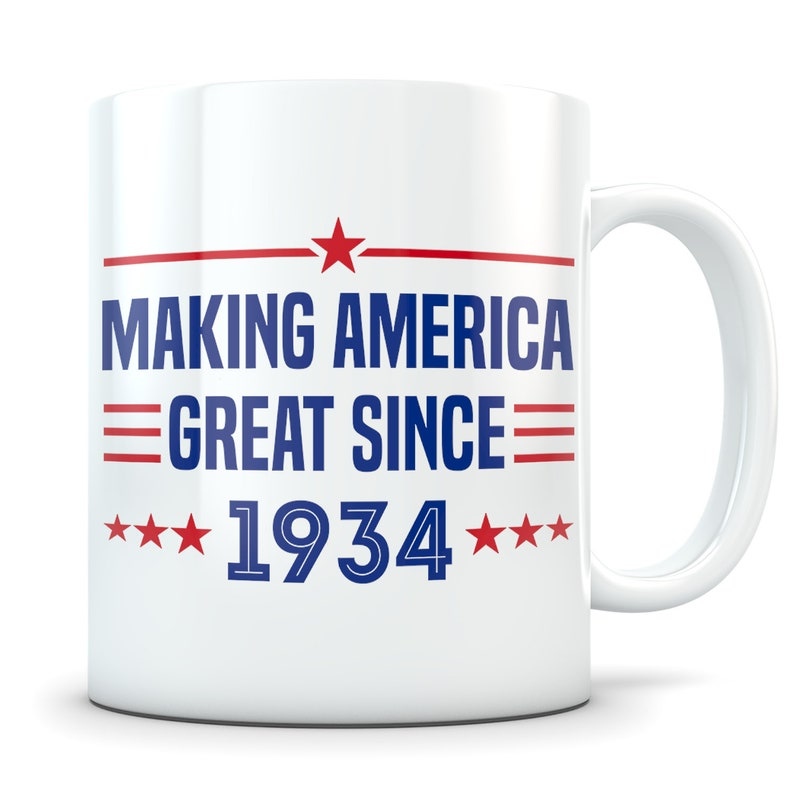 Funny 85th Birthday Gift Mug 85 Year Old Gifts Happy 1934
