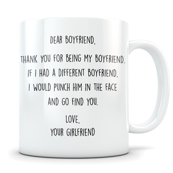 Funny Boyfriend Gift Thank You Gifts For