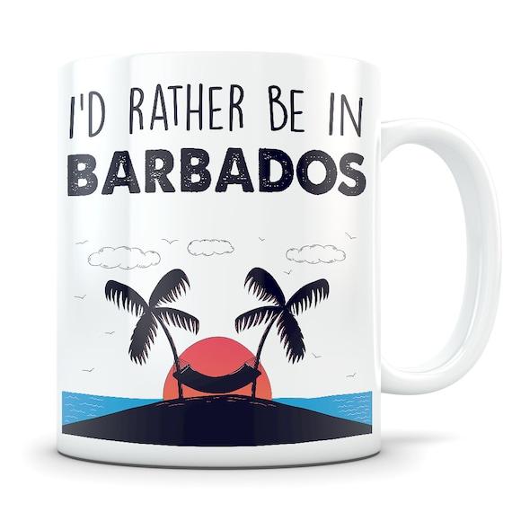 Christmas Barbados Barbadian Flag Tea Cup Mug Coffee Gift Birthday