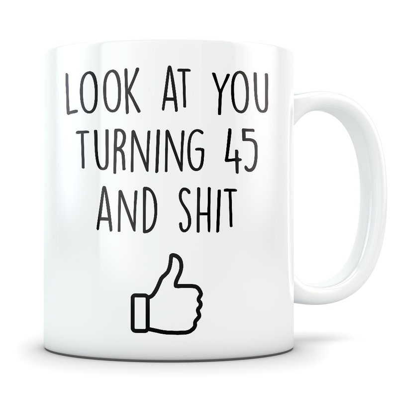 50th Birthday Gift Ideas For Men Source 45th Women And Mug 45 Etsy