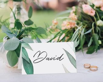 Eucalyptus Wedding Place Cards    Wedding Reception     Casual     Australian Native