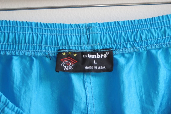 UMBRO PELE SHORTS \ pele spell out soccer shorts | 90s umbro shorts | vintage umbro | men's size large | neon umbro shorts | neon soccer |