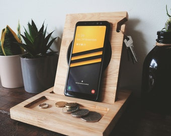 Wireless Docking Station - Wireless charger, Docking Station, Charging station, Wireless dock, Father's Day gift, Gift for Boyfriend