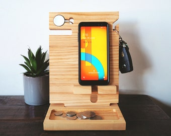 Docking station for an Apple watch charger - Fathers Day Gift, Gift for Dad,Apple charging dock, Apple watch stand, AirPods charging station