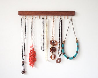 Necklace holder - Mum gift, Gift, Jewelry holder Necklace organiser Necklace hanger Wall mount necklace holder Accessories organiser