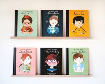 Minimalist Book Display Ledge 70cm (Oak) - Kids Bookshelf, Book Ledge, Picture Ledge, Bookshelves, kids shelf, Floating ledge, Book Display
