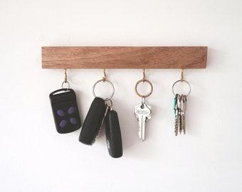 Hook key holder for wall - key rack Gift Wall key holder Key rack Rustic key holder Key hanger entryway organiser Key storage