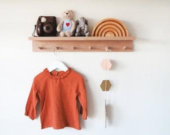 Nursery shelf - Kids room decor, timber shelf, Wall mount coat rack, baby room decor, Kids wall decor, Kids room shelf, Kids decor