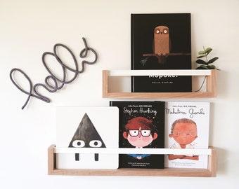 Bookshelf for Kids (white flat peg - Tasmanian Oak)