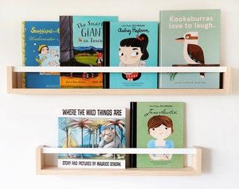 Kids Wall bookshelf (with flat peg) - Floating Bookshelf for kids, book shelf, nursery bookshelf, Kids bookshelves, Children's shelf