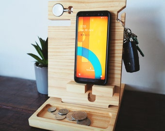 Docking station for an Apple watch charger - Fathers Day Gift, Apple charging dock, Apple watch stand, AirPods charging station, Phone Dock