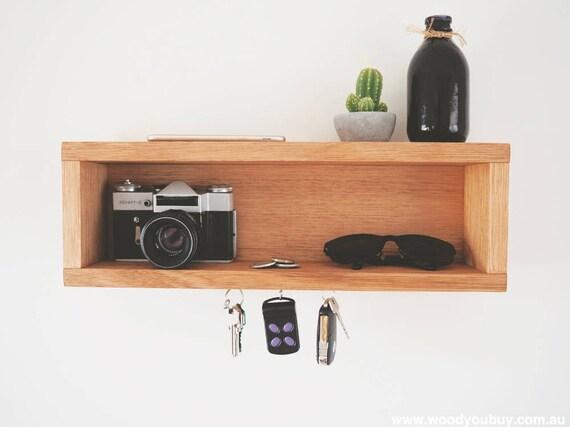 Wall Key Holder Home Decor Entryway Organiser Floating Shelf | Etsy