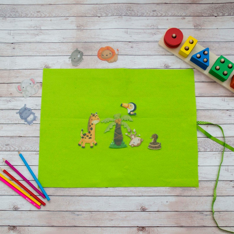 Play Mat for Felt Board Stories  Early Learning Activity Mat image 0