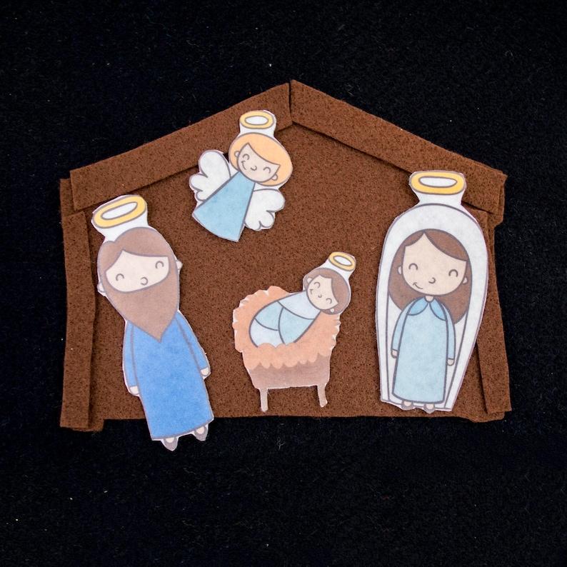 Felt Nativity Scene for Chistian Homeschool Chirstmas image 0