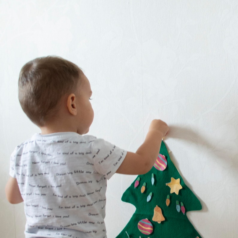 Felt Christmas Tree with 66 Felt Ornaments  Christmas image 0