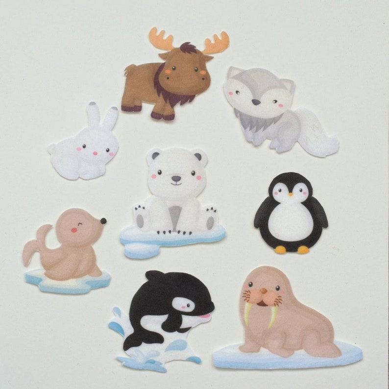 Arctic Animals Learning Toy Polar Animals Felt Story Back to image 0