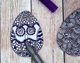 Adult Easter Basket Stuffers, Adult Coloring Easter Eggs White Board Magnets, Boho Easter Decor