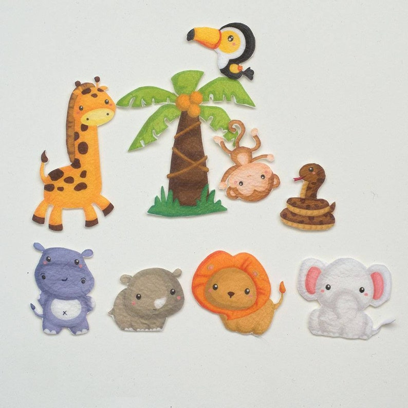 Safari Animals Felt Board Story Jungle Friends Learning Toy image 0