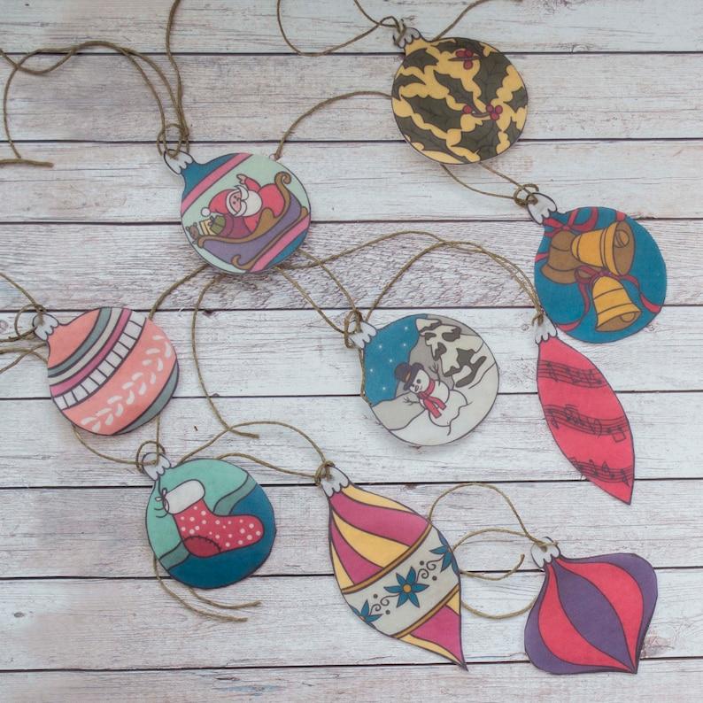Baby Christmas Ornaments  Set of 9 Toddler Christmas Tree image 0