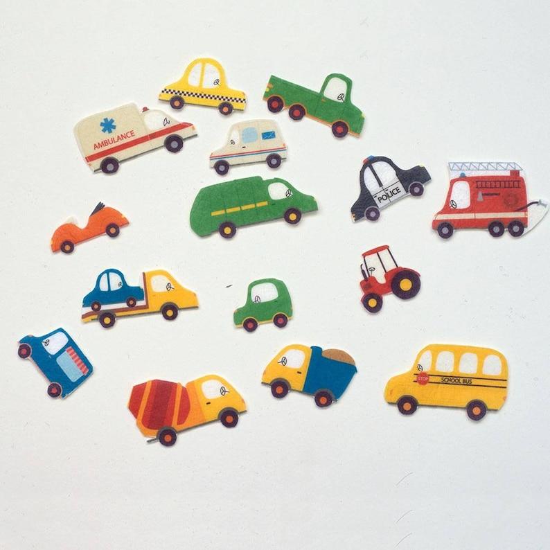 Felt Cars Set Travel Felt Stories Early Learning Activity image 0