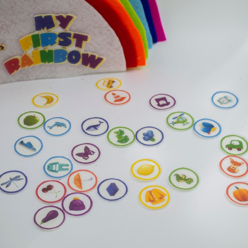 Montessori Sorting Quiet Book for Toddler  First Birthday image 0