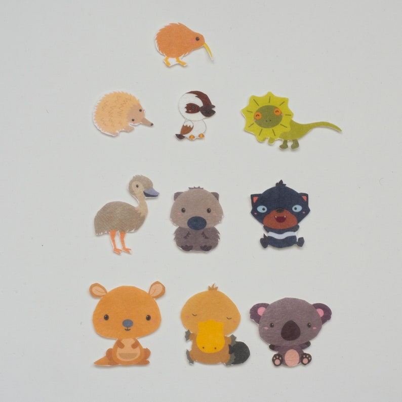 Felt Animals of the World Set  Australian Animals Flannel image 0