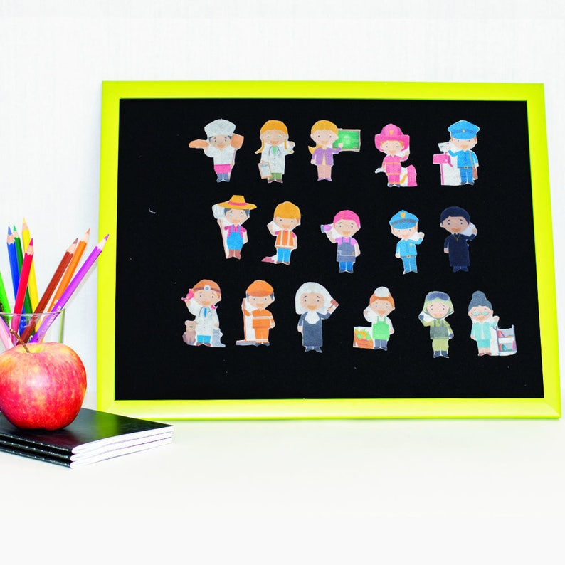 Professions Flannel Board Story  Jobs Toy Set  Quiet image 0