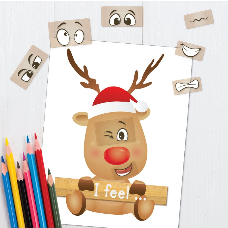 Emotions Cards Toddler Worksheets  Instant Download Christmas image 0