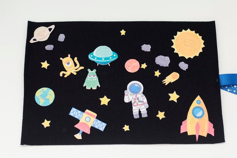 Felt Space Toy Pretend Play Astronaut Adventure Felt Story image 0