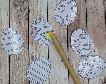 Easter Eggs Coloring Fridge Magnets, Easter Basket Stuffers for Kids, Coloring Activities  for Preschool