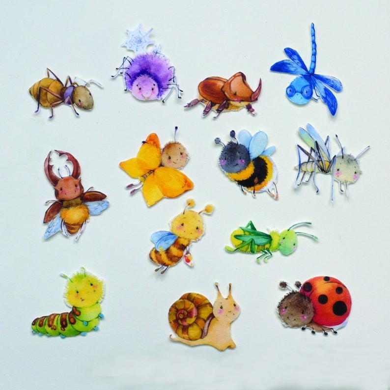 Preschool Felt Toy Set Felt Insects Cute Bugs Toy Felt image 0