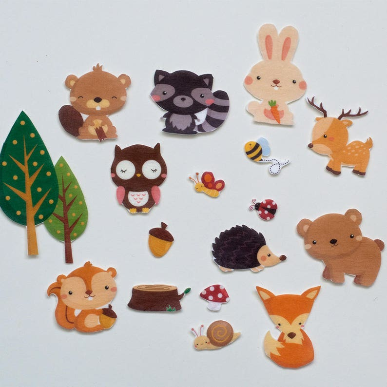 Woodland Animals Felt Set Forest Animals Flannel Board Story image 0