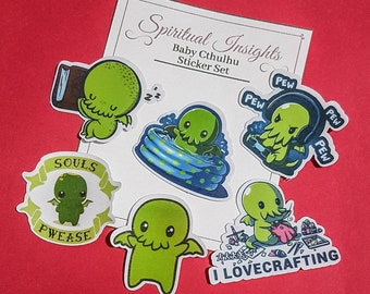 Horror Lovecraft Cthulhu Chibi O R/'lyeh Vinyl Decal Truck Car Sticker Laptop