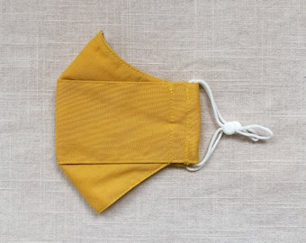 Saffron Yellow Adult/Child/Toddler 3D Origami Breathable Mask