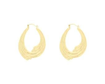 a8bf2e4443e83 Shrimp hoop earrings | Etsy