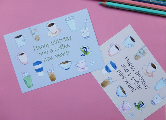 Full Set Of 4 Birthday Cards For Coffee Lovers
