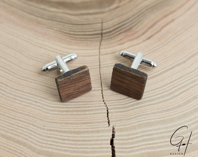 Cufflinks from the ancient wine barrel