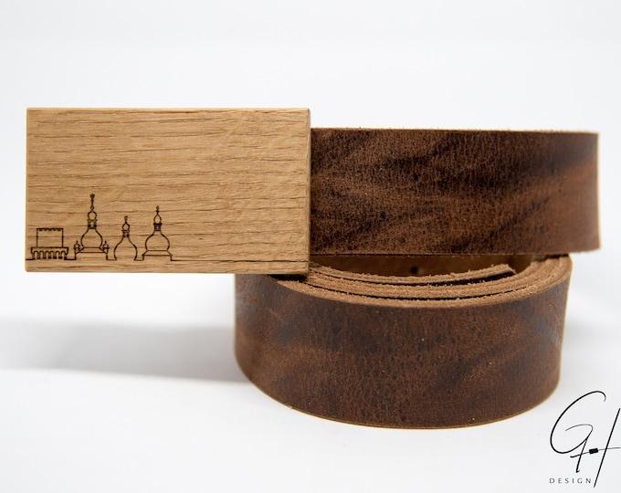 Leather belt with Waidhofner oak